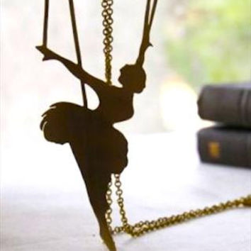 Brass Ballet Girl Marionette Necklace