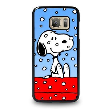 snoopy dog christmas samsung galaxy s7 case cover  number 1