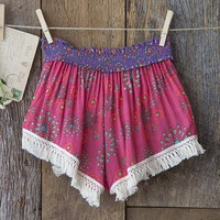 Medium/Large  Pink  &  Cream  Indie  Print  Lounge  Shorts  From  Natural  Life