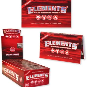 Elements Red Single Wide Rolling papers