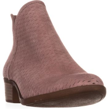 Lucky Brand Baley Pull On Ankle Boots, Blush, 5.5 US / 35.5 EU