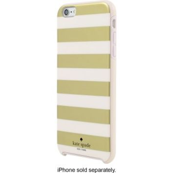 kate spade new york - Hybrid Hard Shell Case for Apple® iPhone® 6 Plus and 6s Plus - Candy Stripe Gold/Cream
