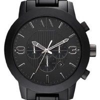 Armani Exchange Chronograph Black Aluminium Mens Watch AX1157