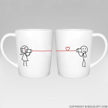 Say I Love You Too™ Couple Coffee Mugs, Couple Gifts,Christmas Gifts for Boyfriend,Valentines Day Gifts for Him,Romantic Anniversary Gifts for Him