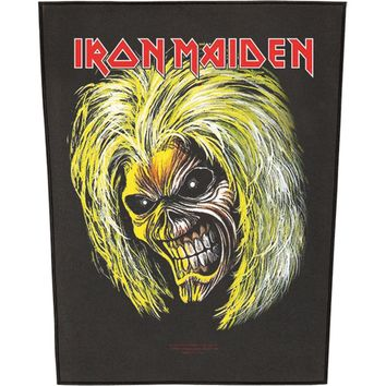 Iron Maiden Men's Killers Eddie Back Patch Black