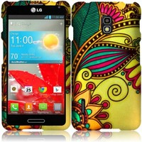 For LG Optimus F7 US780 Hard Design Cover Case Antique Flower Accessory