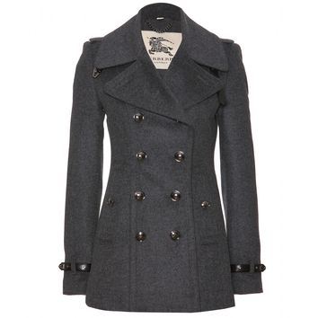 Wool And Cashmere Pea Coat  ∇ Burberry London ¦ mytheresa.com