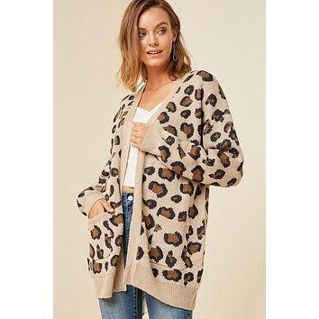 Leopard Cardigan - Tan - Pre-Order Ships Tuesday 12/11