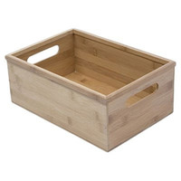 "DVD and Video Storage Box - Bamboo (Bamboo) (4.75"" H x 8.5"" W x 12.5"" D)"