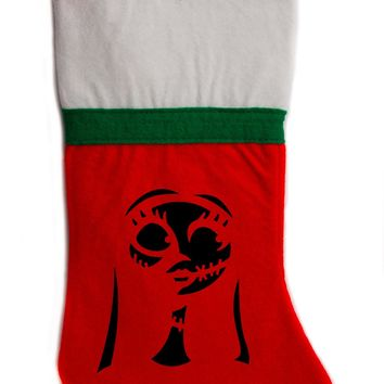 "Sally Nightmare Before Christmas Holiday Stocking 16"" Red/White Felt Hanging Sock Santa Stuffer"