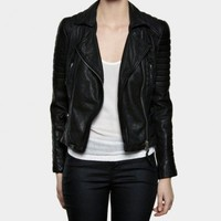 Pitch Leather Biker Jacket | Womens Leather Jackets | AllSaints