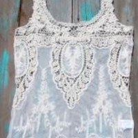 Hippie Cowgirl Lace Tank | Elusive Cowgirl