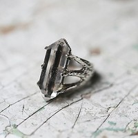 Womens Crystal Talon Ring