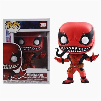 Funko pop official : Contest OF Champions - Venompool 300#Death Venom Deadpool Marvel Action Figure Model Collection