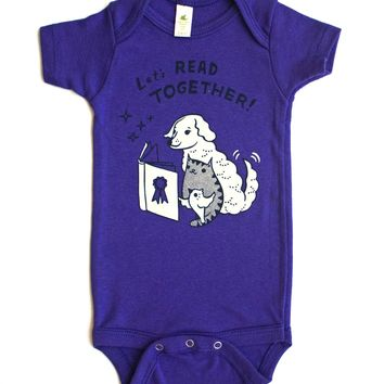 Let's Read Together Organic Baby Onesuit (Grape)