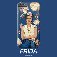 Frida Khlao Floral Pattern Illustration IPhone / Galaxy Phone Case