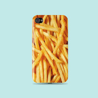 Lot Of French Fries Yumyum floral Plasma Plastic Hard Case - iphone 5 - iphone 4 - iphone 4s - Samsung S3 - Samsung S4 - Samsung Note 2