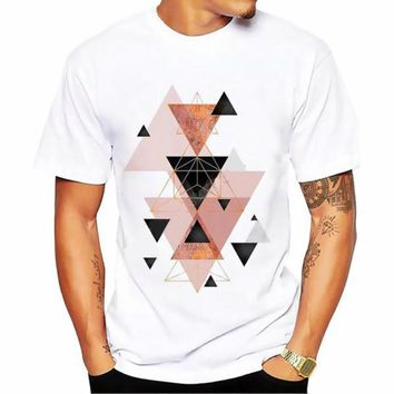 Geometric Triangle Art T-shirt