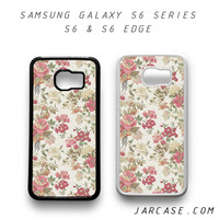 flower floral Phone case for samsung galaxy S6 & S6 EDGE