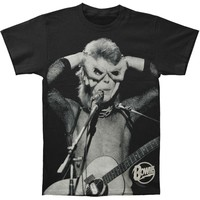 David Bowie Men's  Acoustic T-shirt Black