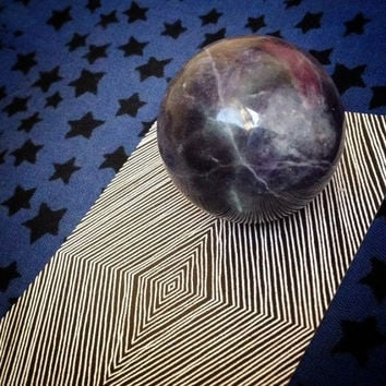 Rainbow Fluorite Sphere, Crystal Ball, Balance and Ground Chakras, Channeling, Meditation, Divination Tools, Metaphysical, Free Shipping