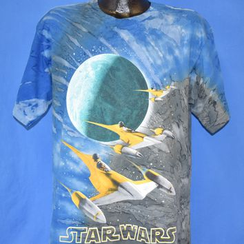 90s Star Wars Episode 1 N-1 Starfighter t-shirt Youth Extra Large