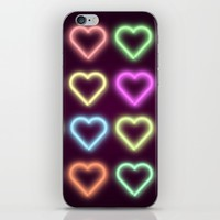 Neon Love iPhone & iPod Skin by Dood_L