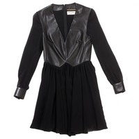 Black silk dress SAINT LAURENT Black