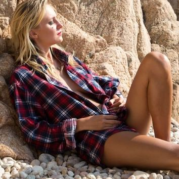 Beach It Girl, Mystery Unisex Flannel Shirts!! Get your Over-Sized Vintage Style Flannel NOW!!