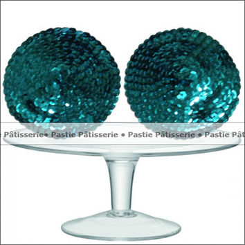 "Burlesque TURQUOISE faceted SEQUIN PASTIES - ready to ship in 2.25"" 2.75"" 3.25"" & 4.25"" * made to order in your custom size"