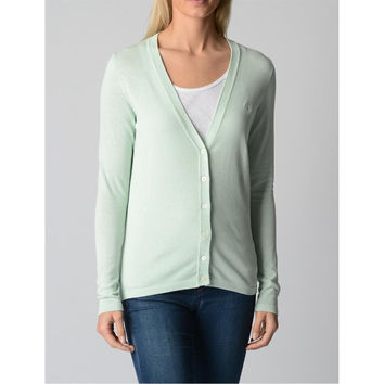 Green L Fred Perry Womens Cardigan 31432015 7054