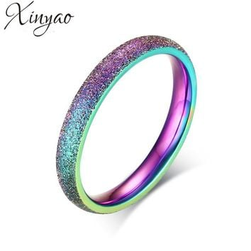 XINYAO Fashion Colorful Rainbow Ring