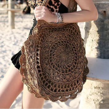 Crochet Circle Beach Bag