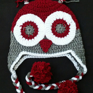 Ohio State Owl Ear Flap Hat (other colors available)