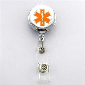 Nurses Have Heart Badge ID Holder With Clip Reel