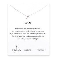 go! arrow necklace, sterling silver