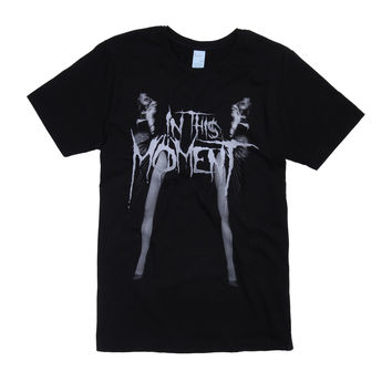 In This Moment Black Widow Leg Mirrored T-Shirt