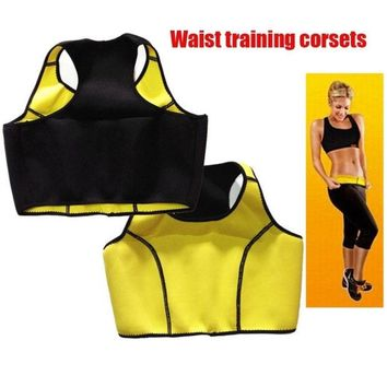 VONGB5 2015 Hot women Neoprene Slimming Cinchers Body Shaper Bra waist training corsets Workout Sports bodysuit Tops