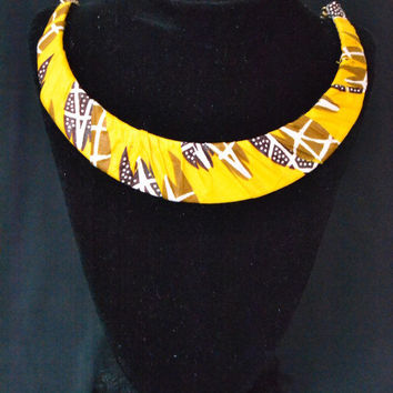 Yellow Ankara Necklace