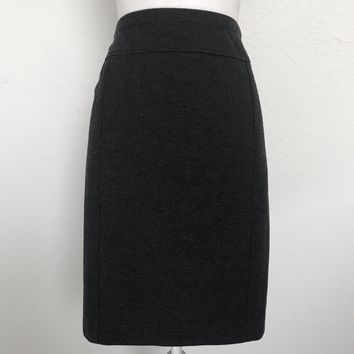 ELLEN TRACY Women's Plus Size XXL Charcoal Straight Pencil Skirt