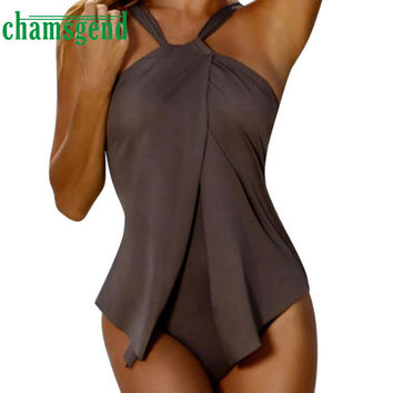 S-XL Size Solid Sexy Women's Swimwear Swimsuit Jumpsuit Bikini Bathing One-Piece Swim Beachwear New Beach Wear Bandage Dec13