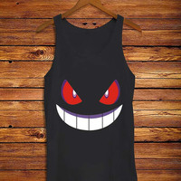 pokemon genggar expresi _ Tank Top Men And Women Size S,M,L,XL,XXL Design By : mbedugal