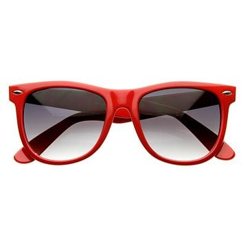 Classic Retro Large Colorful Horned Rim Sunglasses 2767