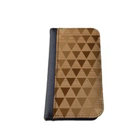caseorama Wood print iPhone 5C wallet case Flip Case graphic chevron dandelion anchor graphic distressed (Wood Triangle)
