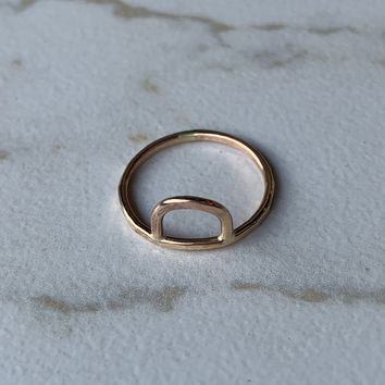 Gold Bend Ring