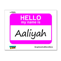 Aaliyah Hello My Name Is Sticker