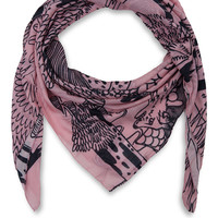 Mary Katrantzou Pink Forest Cashmere and Modal-Blend Scarf | Scarves | Liberty.co.uk
