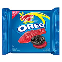 2 Pack of Limited Edition Swedish Fish Oreo Sandwich Cookies