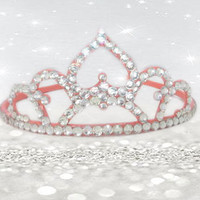 Coral Wedding Accessories - Bridal Tiara - Wedding Crown - Princess Crown - 21 Birthday Tiara - Princess Accessories - Toddler Headband