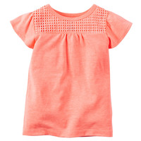 Toddler Girl Carter's Crochet-Yoke Top